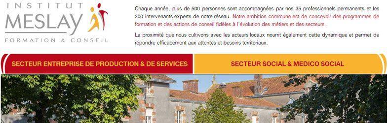 Institut Meslay Website