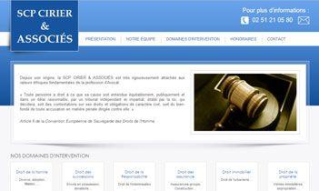 SCP Cirier & associés Website